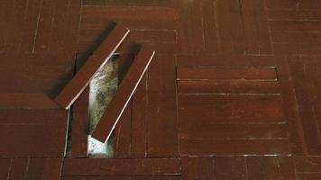 vieux fond de texture de parquet fissuré et sale photo