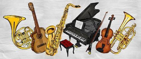 peindre des instruments de musique photo