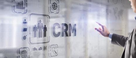 CRM gestion de la relation client. concept d'orientation client photo