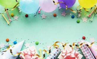 joyeux anniversaire et fond de fête photo