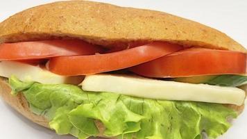 sandwich prêt à manger pour le petit déjeuner photo