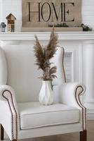 arrangement de décoration de vase de plantes à la maison photo