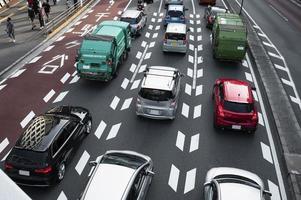 la lumière du jour du trafic de la ville des voitures photo
