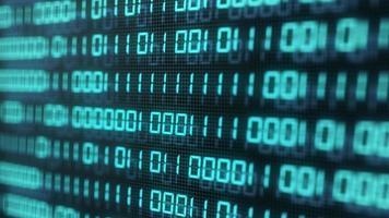 numéro de code binaire numérique sur fond d'écran d'ordinateur photo