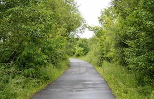route goudronnée vide à la campagne photo