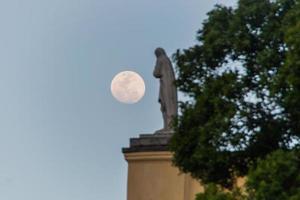 pleine lune à rio de janeiro, brésil photo