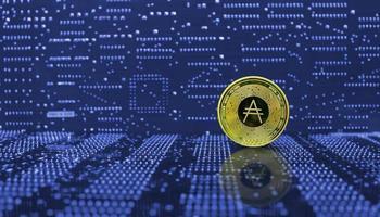 crypto-monnaie pièce d'or cardano ada photo