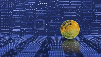 crypto-monnaie à pois dorés photo