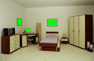 bureau, bibliothèque, lit et armoire pour chambres d'enfants photo