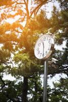 horloge avec cellules solaires et caméra de mouvement photo