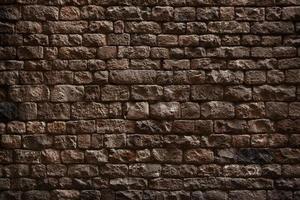 mur en briques brunes photo