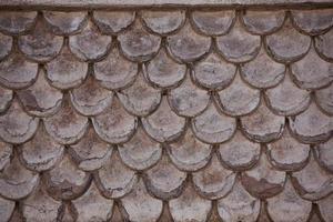 fragment de l'ancien mur, semblable à des bardeaux photo