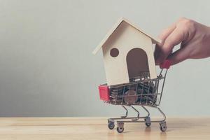 investissement immobilier et concept financier d'hypothèque de maison photo