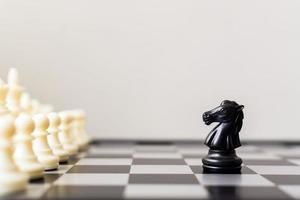 le chef d'entreprise et la confrontation résolvent le concept de problèmes photo