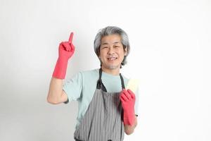femme de ménage asiatique senior photo
