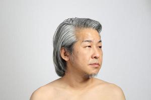 vrai visage de peau photo