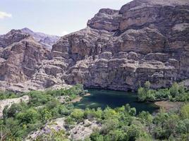 vues sur l'est de la turquie, les lacs, les montagnes, les rivières. photo