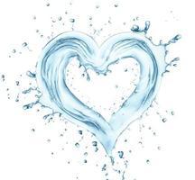 coeur de l'eau photo