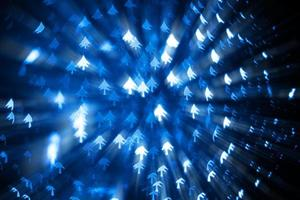 arbre de noël bleu bokeh photo