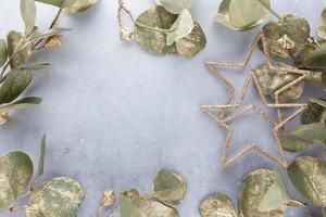 fond de décor de noël. mise à plat, vue de dessus. photo