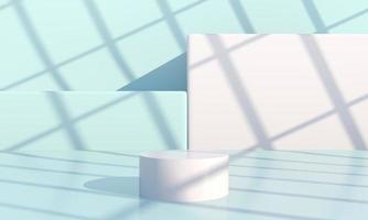 scène minimale avec des formes géométriques, podiums en fond crème avec des ombres. scène pour montrer un produit cosmétique, une vitrine, une vitrine, une vitrine. 3d photo