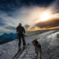 ski alpinisme silhouette photo