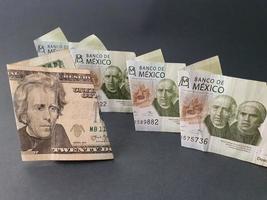 taux de change du peso mexicain et du dollar américain photo