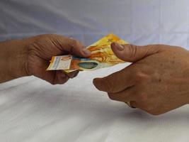 thèmes économiques et financiers avec de l'argent suisse photo
