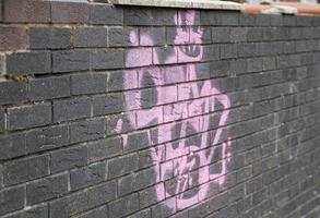 graffiti rose vif photo