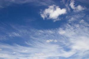 fond de ciel bleu avec des nuages photo