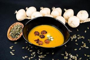 soupe d'orange hokkaido citrouille cucurbita maxima photo