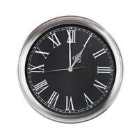 exactement une heure sur l'horloge ronde photo