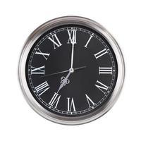 l'horloge indique exactement sept heures photo