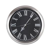 sept heures cinq minutes sur l'horloge photo