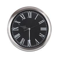 l'horloge ronde montre neuf heures et demie photo