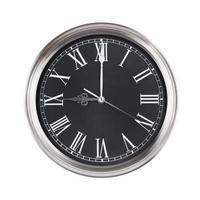 trois heures sur l'horloge ronde photo