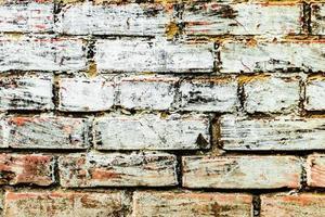 texture d'un mur de briques avec des fissures et des rayures photo