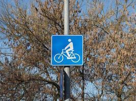 signe de la piste cyclable photo