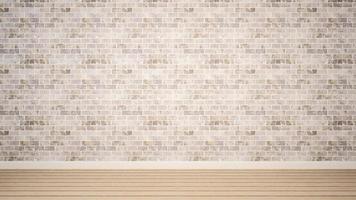 pièce vide et mur de briques blanches dans l'appartement ou la maison photo