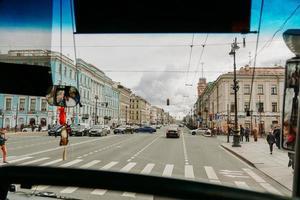 Saint-Pétersbourg, Russie, 2021 - vue depuis la fenêtre du bus photo