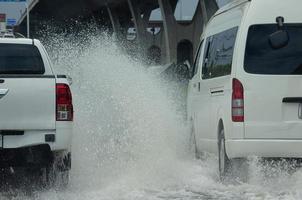 route des inondations en thaïlande photo