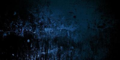 mur fissuré bleu foncé effrayant pour le fond photo
