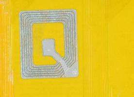 autocollant antivol, étiquette de sécurité avec antenne photo