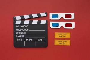 billets de lunettes de cinéma 3d photo