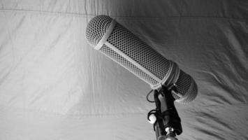 type de perche de microphone. enregistreur de son micro perche et trépied. photo