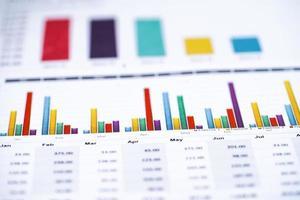 du coeur ou du papier millimétré. concept de données financières, comptables, statistiques et commerciales. photo