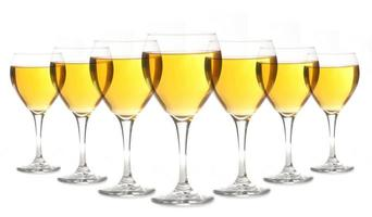 verres d'alcool doré photo