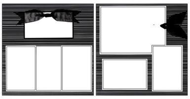 modèle de cadre de scrapbooking ruban noir photo