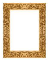 Grunge rectangulaire sale vieux cadre photo doré