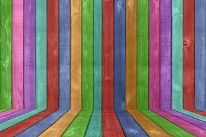 fond de clôture en bois aux couleurs vives photo